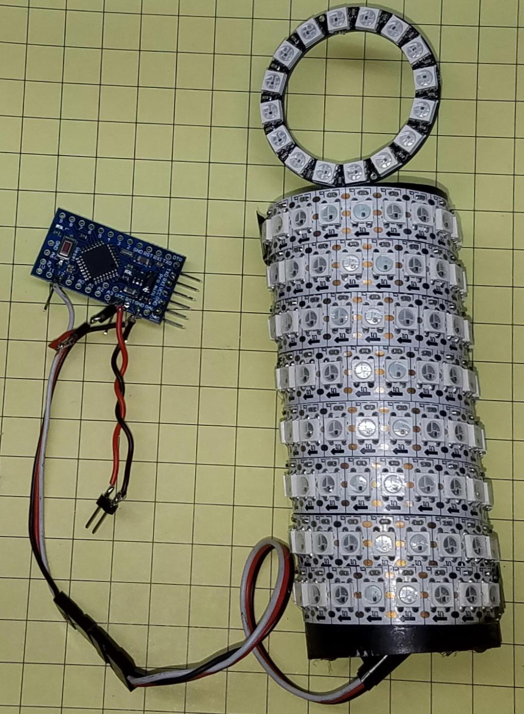 160 LEDs Chasing Round & Round