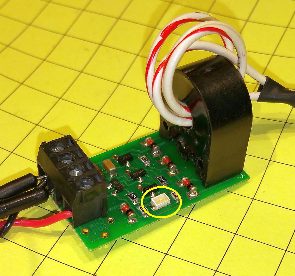 Dcc Current Sensing Model Locomotive Infrared Controller Circuit Electronic This Sensor Detected The Drawn When A 47k Resistor Was Put Across Track It Is Quite Bit More Sensitive To Than One I Built