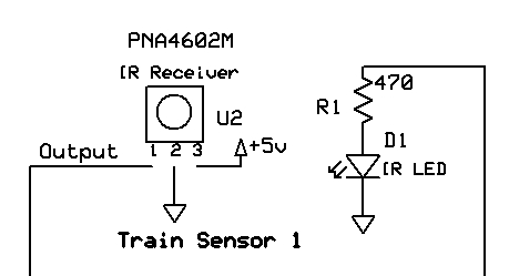 the remaining connection, the wiring coming off of the resistor on the led,  goes to the microcontroller pin that generates a stream of 38 khz pulses