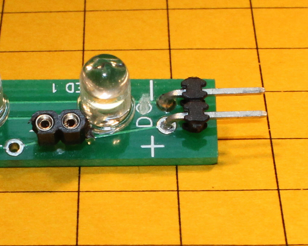 Using Leds In Coaches First I Connected 1 Supercap And The Led Resistor Into Circuit Put A Small Socket To Left Of Position So That Could Test Board With Different Value Resistors Installed Two Pins
