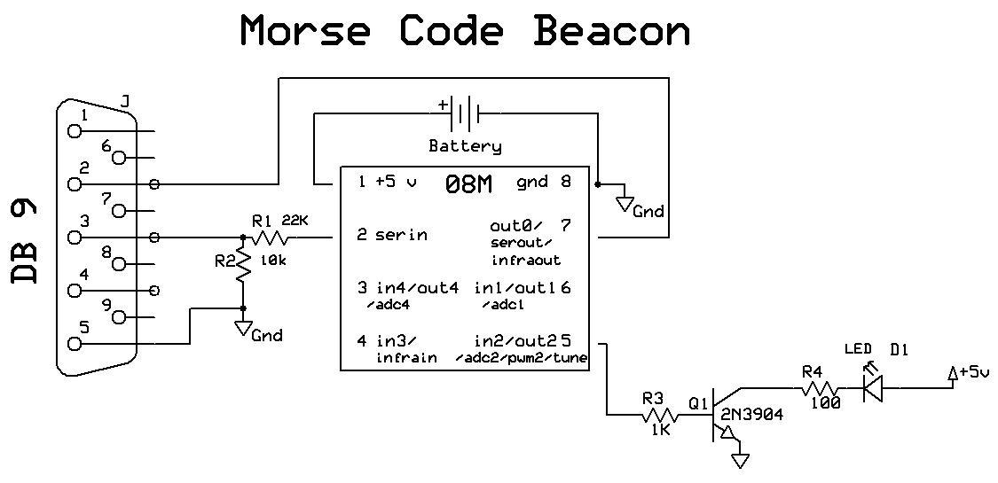 morse code beacon  trainelectronics.com