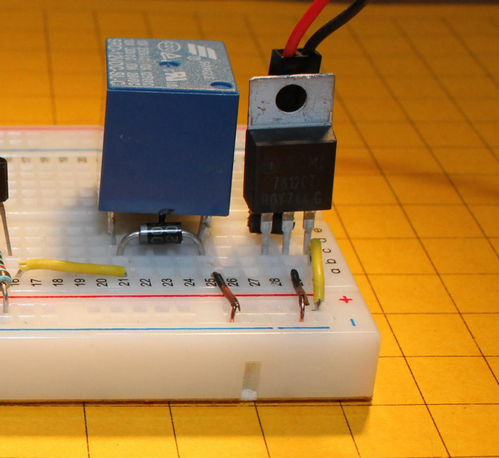 how to connect relay on breadboard