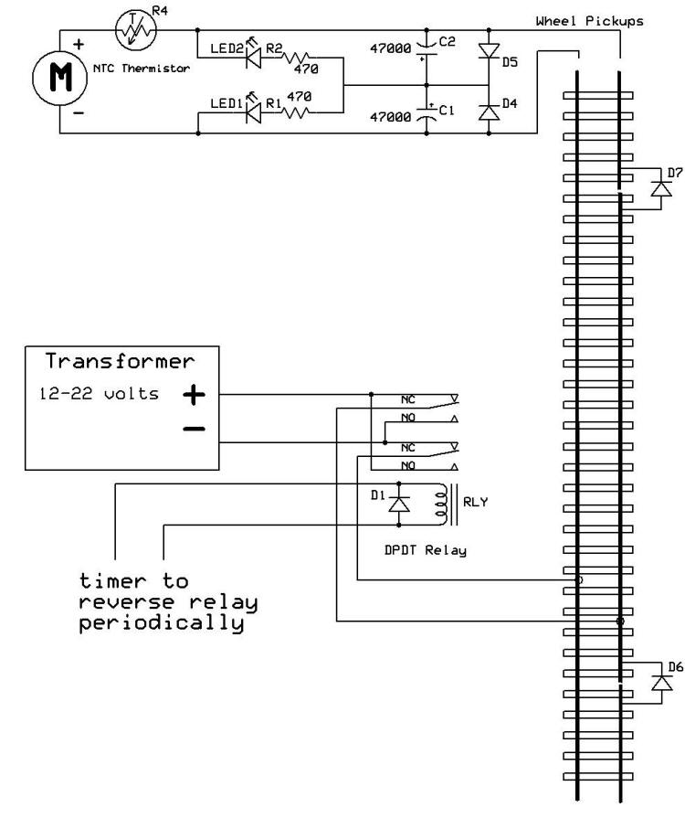 schematic_cap_ntc_on_train_reverser  Pole Relay Wiring on motor control, force guided, power solid state,