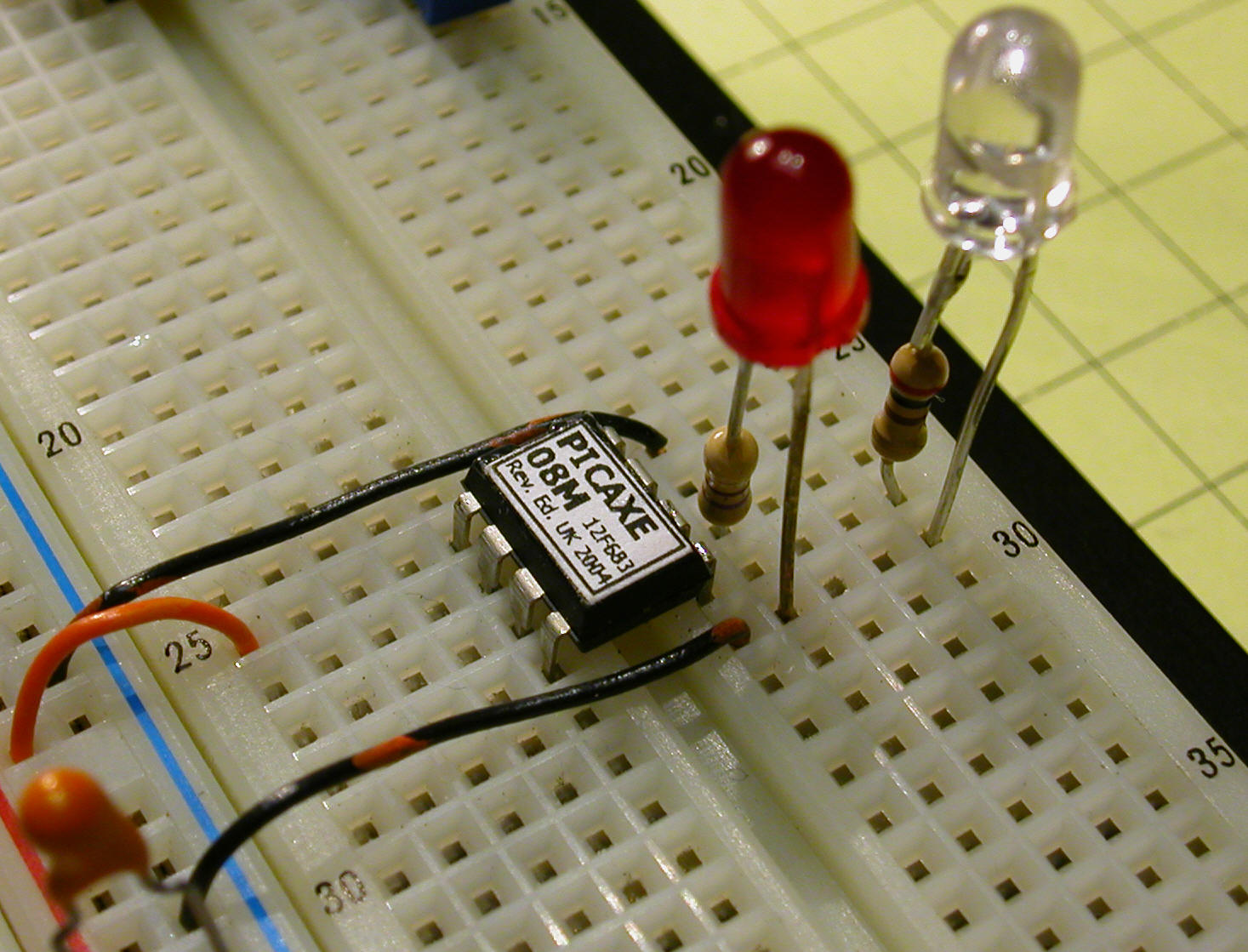 Pulsed Ir Sensor Infraredemitter38khz555timercircuitschematicgif The Infrared Led Also Has Its Resistor Attached And Goes Between Pin 5 On Picaxe Ground