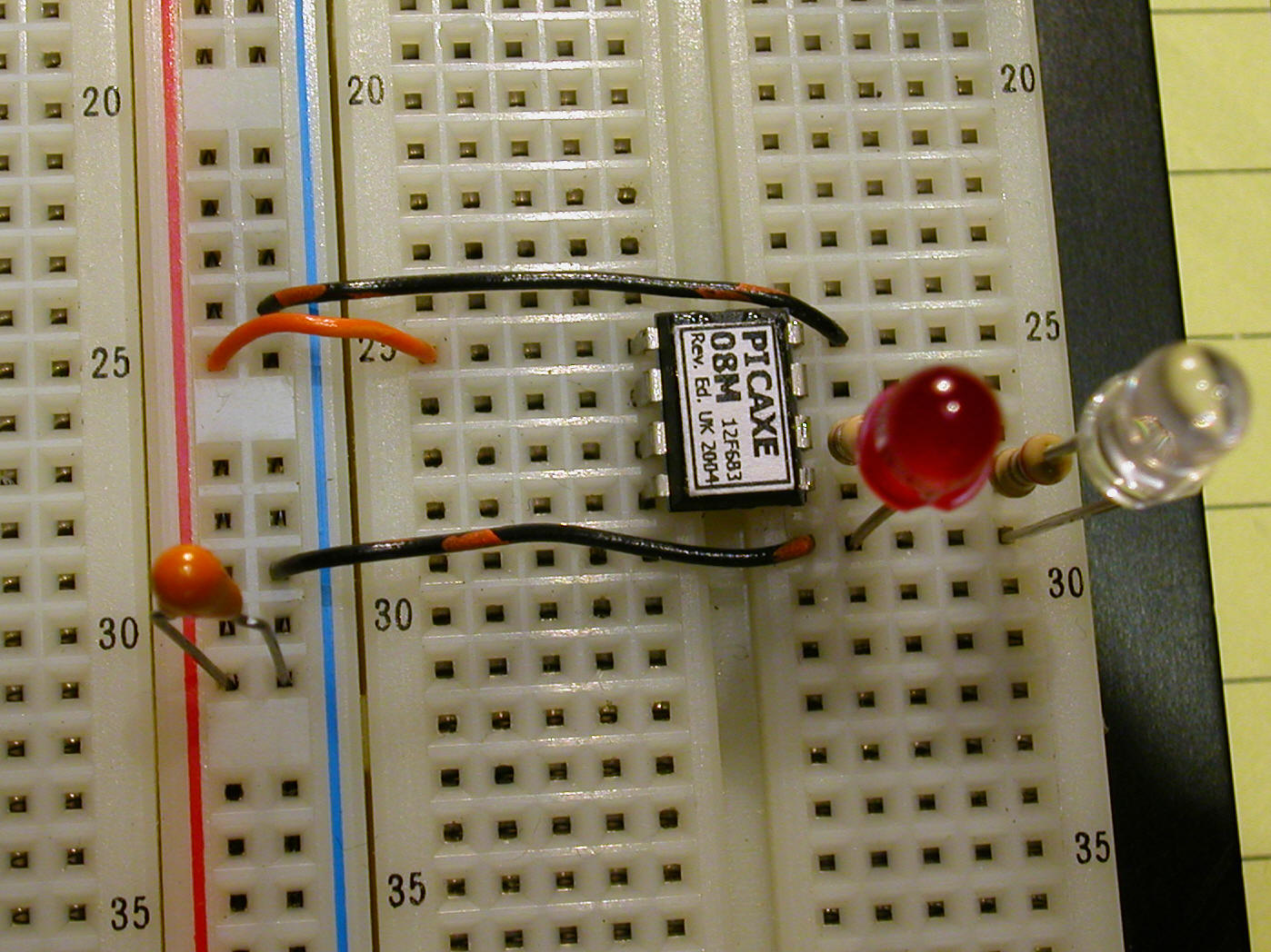 Pulsed Ir Sensor Infraredemitter38khz555timercircuitschematicgif Below Are Two Programs For The Picaxe I Think That You Will Agree They Simple As Well First Program Turns On Leds Which Flash