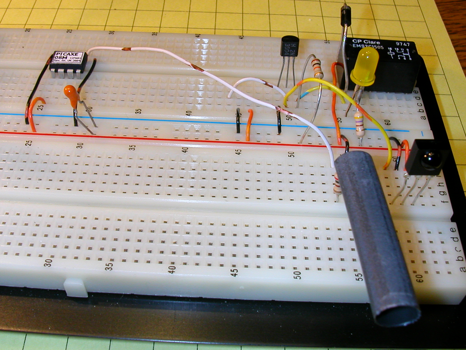 Pulsed Ir Sensor Infraredemitter38khz555timercircuitschematicgif In The Photo Below A Section Of Black Tubing Covers Sides Led So That Can Only Be Emitted To Front